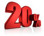 Rabatt 20 Prozent